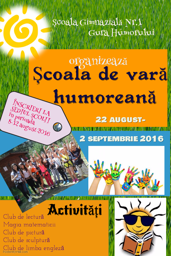 Poster Scoala de Vara Humoreana